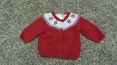 Infant Girls 3-6 Month Gymboree Red Penguin Fair Isle Christmas Holiday Sweater #Gymboree #Cardigan #Holiday