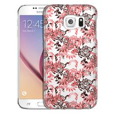 Samsung Galaxy S6 Coral Tea Roses Case