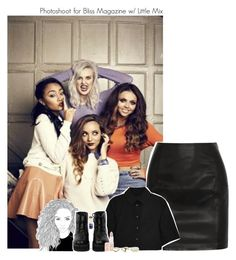 """""""Photoshoot for Bliss Magazine w/ Little Mix"""" by amberamelia-123 ❤ liked on Polyvore featuring BLK DNM, Alexander Wang, The WhitePepper, Rimmel and NLY Accessories"""