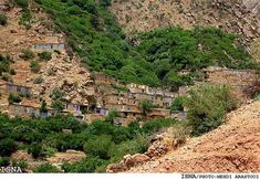 The beautiful Hajij Village in the Province Kurdistan, Iran.
