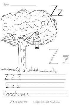 Z is for Zacchaeus - The final page in the Bible ABC's color & write sheets.  This page can be used for alphabet, or a lesson on Jesus or Zaccaeus.  Please check out the entire alphabet....they were drawn by my hubby and created by me!!