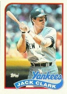 1989 Topps #410 Jack Clark - New York Yankees (Baseball Cards) by Topps. $0.88. 1989 Topps #410 Jack Clark - New York Yankees (Baseball Cards)