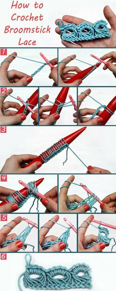 How to crochet broomstick lace.