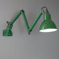 Vintage British machinists lights. Circa 1930 : Wall Lights : Skinflint Design
