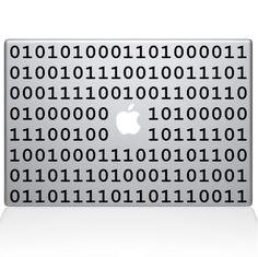 Find Binary code Macbook decal at the Decal Guru online store. Mac Decals, Macbook Decal, Coding, Words, Macbook Sticker, Macbook Stickers, Horse, Programming