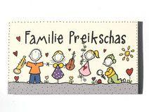 Türschild  Familie Comic Hobby Wunschtext