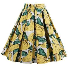 Falda estampada bananas #Amazonmoda #Modamujer #Moda2017/2018 #Falda #Outfit #fashion #Shopping #Print