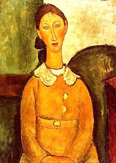 Amedeo Modigliani Femme à la robe jaune 1917 (Madame Modot ?)