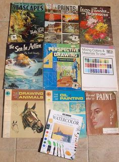 Lot 10 Walter Foster & Others Art Painting Drawing Draw paint Books