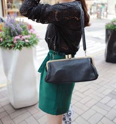 [Miamasvin] Antique Black and Gold Clutch Bag