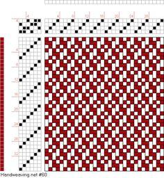 draft image: Vertical Checkerboard Zs, Handweaving.net Visitors, 4S, 6T