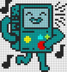 Dancy Bmo Adventure Time Perler bead pattern