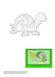 View Turtle Iris Folding Pattern Details