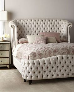 Haute House Bridgitte Queen Bed for any bedroom affiliate Bedroom Sets, Home Decor Bedroom, Bedroom Furniture, Bedding Sets, Ivory Bedroom, Queen Bedroom, Decor Room, Sofa Design, Furniture Design