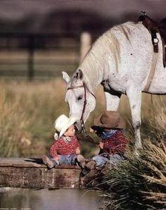 Caballos y niños
