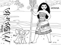 Moana Coloring Pages Free Printable PDF Shee