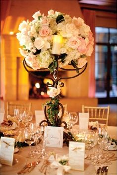 Roses chandelier wedding romantic vintage