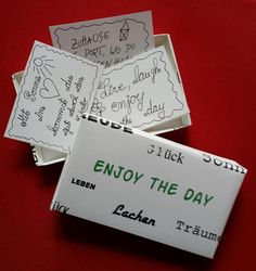 Enjoy-the-day-Box von Textatelier PM auf DaWanda.com