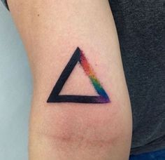 Pink Floyd Triangle Tattoo by dmckns