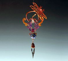 Dragonfly Fertility Sculpture with Windchime and Potion Bottle on Etsy, $100.00 #spells & #magic