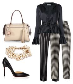 """""""Untitled #472"""" by danai-babali on Polyvore featuring Haider Ackermann, Petar Petrov, Tod's, Tome, Chanel and Christian Louboutin"""