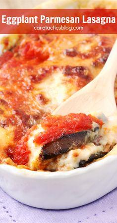 eggplant parmesan lasagna   caretacticsblog.com