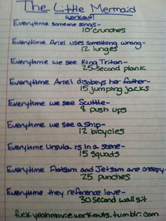 Awesome blog that has movie themed workouts, kinda like a drinking game but workouts instead