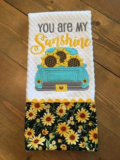 Your place to buy and sell all things handmade Embroidery Applique, Machine Embroidery, Embroidery Designs, Dish Towels, Tea Towels, Sunflower Kitchen, Halloween Kitchen, Ju Ju, Embroidered Towels