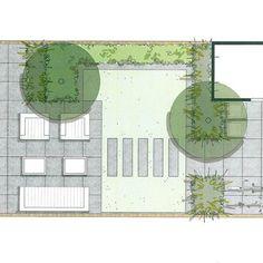 interior home design Back Gardens, Small Gardens, Outdoor Gardens, Landscape Design, Garden Design, House Design, Tree Plan, Garden Drawing, Backyard Patio Designs