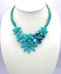 bridesmaid giftsbeadwork necklacebib por audreyjewelry en Etsy, $19.00