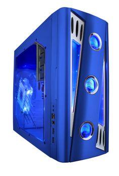 New Apevia x CRUISER2 ATX Mid Tower Blue Gaming PC Case | eBay