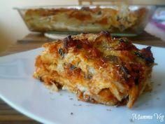 Mamma Veg: Lasagna di pane carasau con ragù di lenticchie e funghi Antipasto, Allrecipes, Vegan Vegetarian, Mamma, Veggies, Food And Drink, Menu, Gluten Free, Cooking