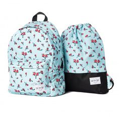 """This backpacks from Russian designer. We print this beautiful pattern """"Sweet Berry"""" on 100% high quality weatherproof Polyester. All our ideas we realized in Russia."""