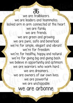 We are Arbonne Gold Download by LiveaLifebyDesign on Etsy