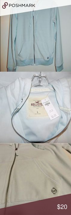 ❌SOLD❌ blue HOLLISTER zip up sweater Hollister zip up sweater with hoodie new with tags. Size large Hollister Sweaters