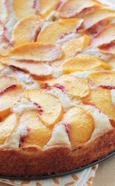 buttermilk peach summer cake