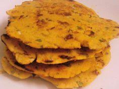 Garlic Makka Roti - Flavoured Cornflour bread