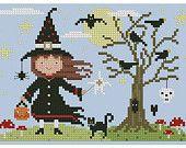 Halloween Witch Cross Stitch