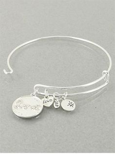 Love Charms Bracelet in Silver from P.S. I Love You More Boutique - www.psiloveyoumoreboutique.com
