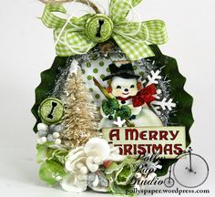 A Merry Christmas Tart Tin Holiday Ornament Handmade by PollysPaper on Etsy