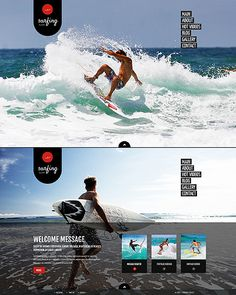 Template 47079 - Surfing Club Website Template