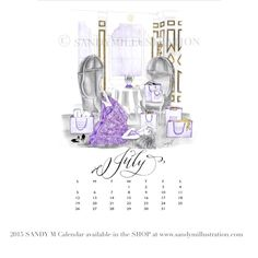 The first SANDY M 2015 Fashion Illustration Calendar is available now! All of the girls in the illustrations are wearing gowns from designer spring summer 2015 collections! July's girl (who is just resting a bit on the floor with her feet up at Bergdorf Goodman's sophisticated BG Restaurant after a very fruitful shopping day!) is wearing #moniquelhuillier ✨ CALENDAR AVAILABLE AT www.sandymillustration.com #illustration #fashion #calendar #sandym2015calendar