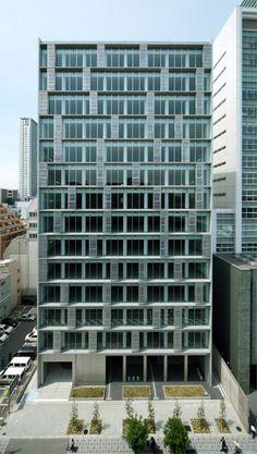 エスリードビル本町 | 竹中工務店 Commercial Architecture, Facade Architecture, Smart City, Facade Design, Window Design, Beautiful Buildings, Skyscraper, Multi Story Building, Japan