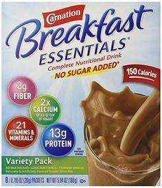 Carnation Instant Breakfast No Sugar Added, Variety Pack, 8pk - http://sleepychef.com/carnation-instant-breakfast-no-sugar-added-variety-pack-8pk/
