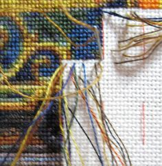 Cross Stitching and parking your threads guide how to