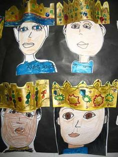 Royal Portraits. All these lesson look so fun!