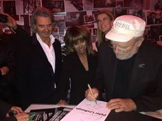 Tina Turner with her husband Erwin Bach & Peter Lindbergh in Rotterdam…