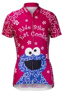 Pink Cookie Monster Women s Cycling Jersey c3d829182