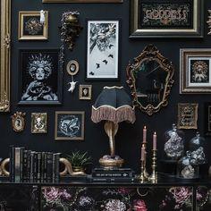 Goth Home Decor, Halloween Home Decor, Romantic Home Decor, Macabre Decor, Horror Decor, College Dorm Decorations, Gothic House, Inspired Homes, Gallery Wall