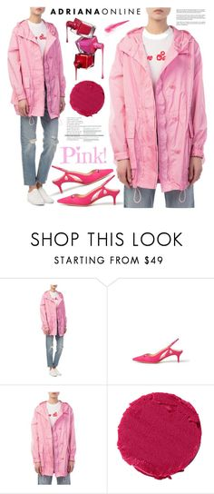 """""""Pink Edition"""" by adrianaonline ❤ liked on Polyvore featuring Alexandre Birman, Lipstick Queen and Whiteley"""